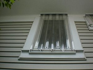 Clear Storm Panels Window