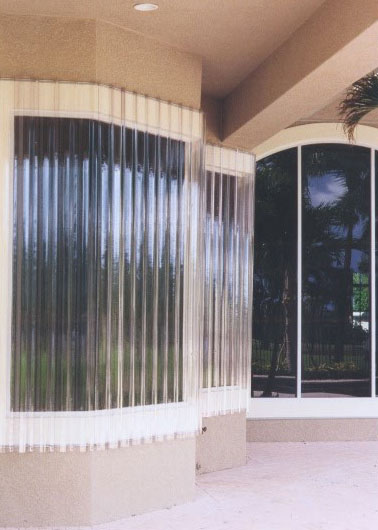Clear Storm Panels at Patio Area