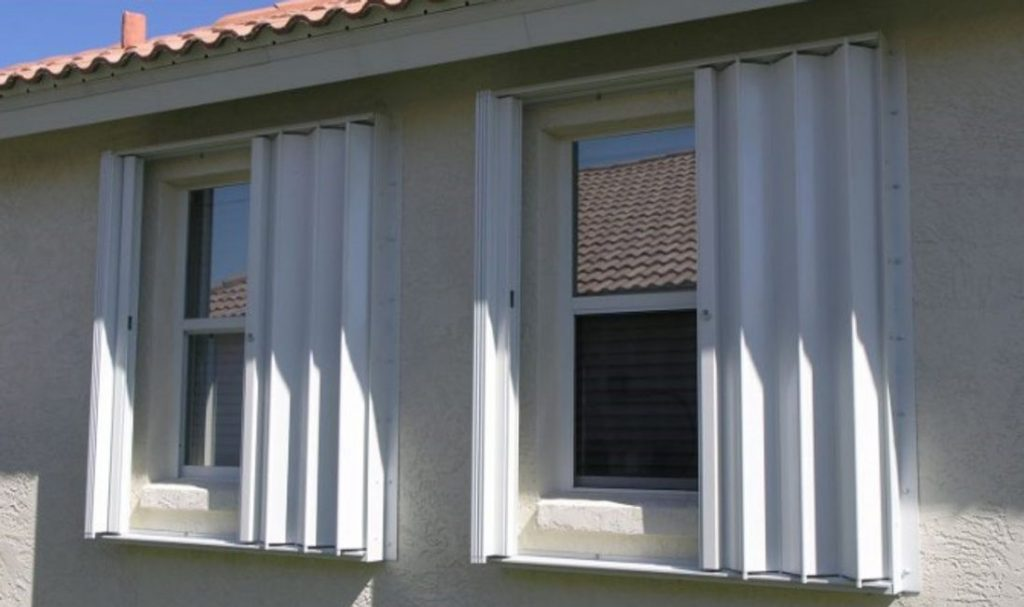 Accordion Shutters Half Close