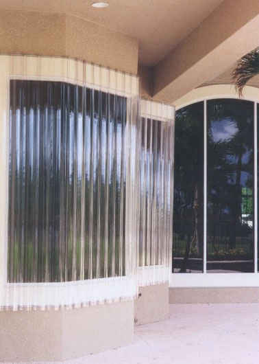 Lookout Corrugated Polycarbonate Lexan Sheet Storm Panels Hurricane